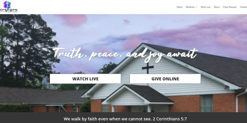 Simpson Baptist Church Screenshot